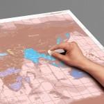 Scratch Map | Rose Gold