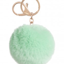 Pom Pom   Round Keyring or Bag Chain