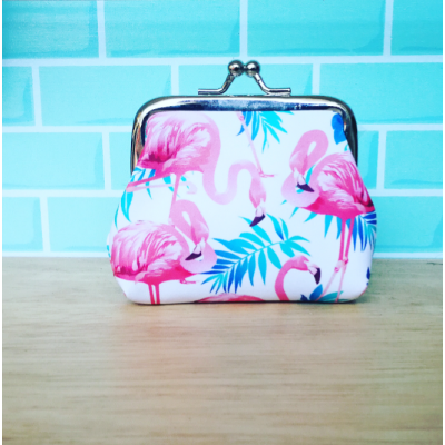 Flamingo Clip Purse