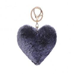 Pom Pom   Heart Keyring or Bag Chain