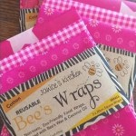 Set of 3 BEESWAX WRAPS | Pink