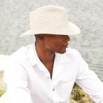 Safari Hat   White with White Band