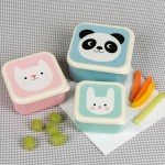 Set of 3 Snack Boxes | Panda Cat Bunny