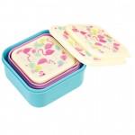 Set of 3 Snack Boxes | Flamingo
