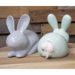Cotton Bum Bunny | Grey & White, Pink & Teal