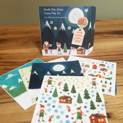 ELF North Pole Sticker Set