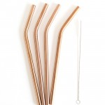 Set of 4 Eco-Straws STEEL - Rose Gold