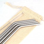 Set of 4 Eco-Straws STEEL | Silver