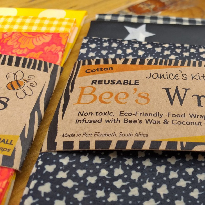 Set of 3 BEESWAX WRAPS | B&W