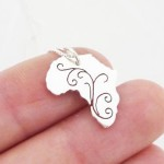 Africa Swirl Pendant on Chain | Sterling Silver