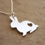 Bunny Rabbit Pendant on Chain | Sterling Silver