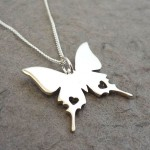 Butterfly Pendant on Chain | Sterling Silver