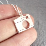 Camera Pendant on Chain | Sterling Silver