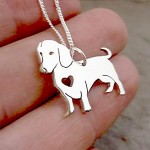 Dachshund Pendant on Chain | Sterling Silver