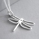 Dragonfly Pendant on Chain | Sterling Silver