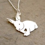 Fluffy Bunny Pendant on Chain | Sterling Silver