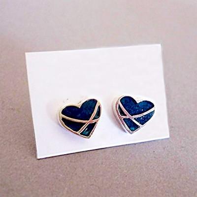 Crossover Resin Stud Earrings | Heart | Sterling Silver