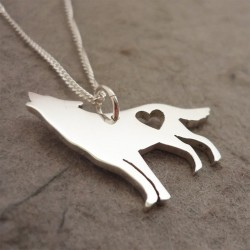 Howling Wolf Pendant | 45cm Chain | Sterling Silver