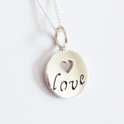 Inspiration Pendant | Love | 45cm Chain | Sterling Silver