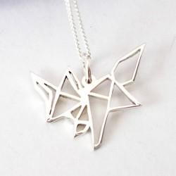 Origami Fox | 45cm Chain | Sterling Silver