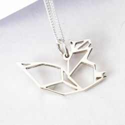 Origami Squirrel | 45cm Chain | Sterling Silver