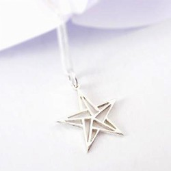 Origami Star | 45cm Chain | Sterling Silver