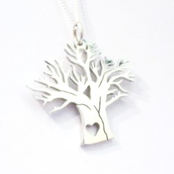Large Baobab Pendant on 45cm Chain | Sterling Silver