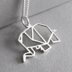 Origami Elephant | 45cm Chain | Sterling Silver
