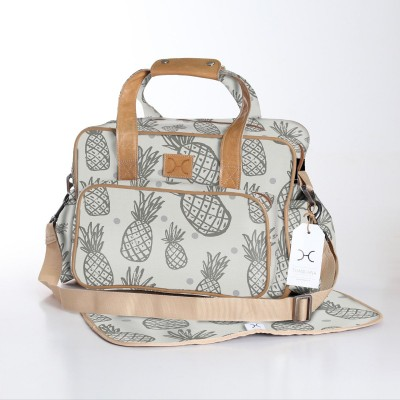 Nappy Bag & Changemat | Pineapple Silver
