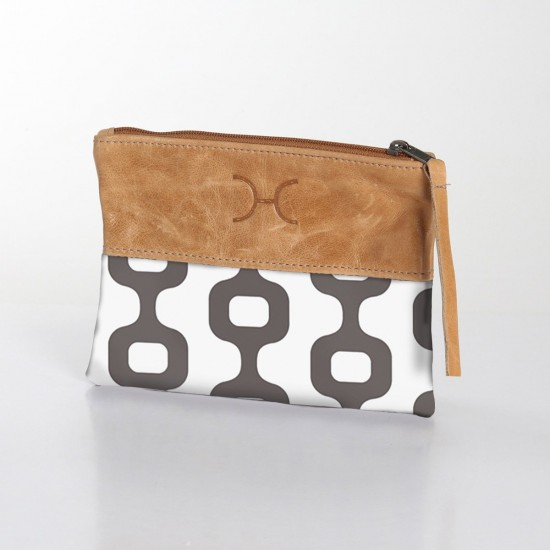 Fabric & Leather Pouch   Chain Rabbit