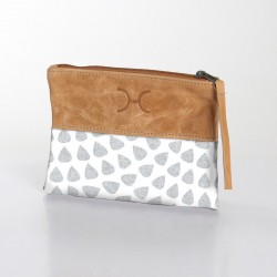 Fabric & Leather Pouch | Scale Moonstruck