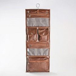 Roll Up Vanity | Leather Tobacco