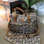 Nappy Bag & Changemat | Penguin Blue Silver