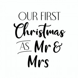 Our First Christmas as Mr & Mrs | Vinyl Sticker