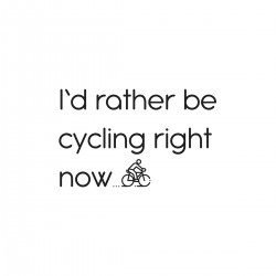 I'd Rather be Cycling Right Now | VINYL STICKER