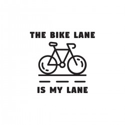 The Bike Lane is My Lane | VINYL STICKER