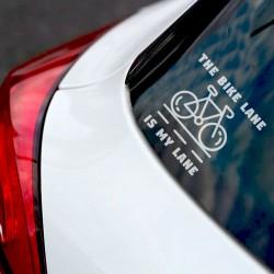 The Bike Lane is My Lane | VINYL STICKER