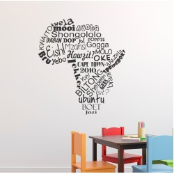 Africa with words | Wall Decal