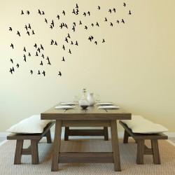 Flying Flock 40 Birds   VINYL STICKER