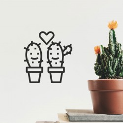 Cacti in love   VINYL STICKER