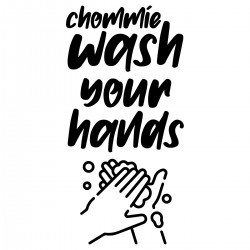 Chommie wash your hands | Decal