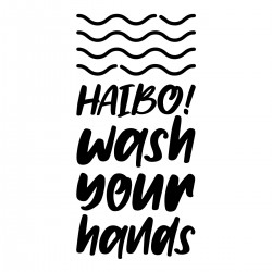 Haibo! wash your hands | Decal
