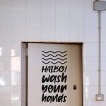 Haibo! Wash Your Hands   VINYL STICKER