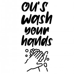 Ou's wash your hands | Decal