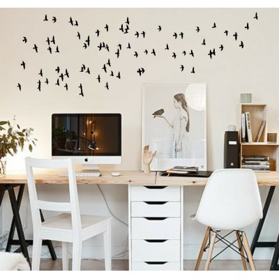 Flying Flock 40 Birds | VINYL STICKER