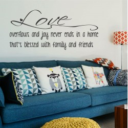 Love Overflows  | Wall Decal
