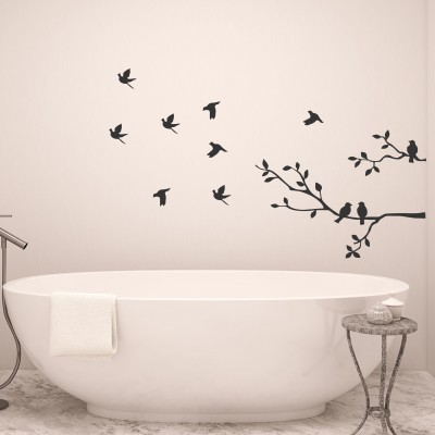 Birds flying off branch| Wall Decal