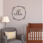 Protea Wreath with Word | Wall Decal