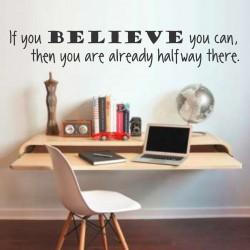 If You Believe | VINYL STICKER
