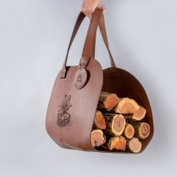 Firewood Carrier | Genuine Leather